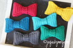 crochet bow tie for little boys Buy 3 Get 1 FREE by jugubymegumi, $6.99  @Teresa Romero, I WANT this too Mama <3