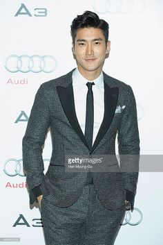 Siwon (Choi Si-Won) of South Korean boy band Super Junior attends the launch event for Audi's new A3 sedan on January 6, 2014 in Seoul, South Korea.