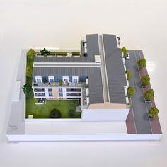 Maquette 3D d'un programme immobilier Echelle 1/87e