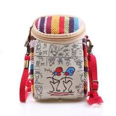 Women Canvas Vintage 5.5 Inches Phone Bag Multifunctional Clutch Crossbody Bag - US$9.99