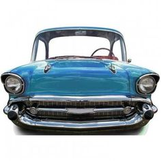 Classic Blue Car Stand-in Cutout - Rock and Roll Party Decorations