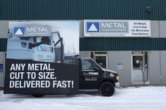 Metal Supermarkets new AdVan hit the streets today, stopping for a picture by the west-end location #mobilebillboards #outdooradvertising #outofhomemarketing #alternativeadvertising