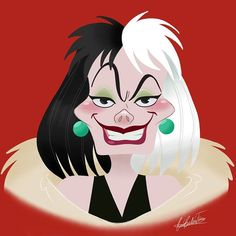 Rocio's Belen Ferreiro Art Princess-Beauty-Case Disney Cruella deVil Disney Pixar, Evil Disney, Disney Films, Disney Villains, Disney Art, Walt Disney, Cruella Deville, Disney Sleeve, Disney Background
