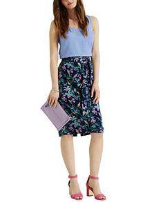 Rainforest Fuschia Pencil Skirt