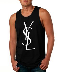 fff92f441b67 YSL men tank top tee tshirt shirt size S M L XL by Sugarcreek2012,  14.65  Tank Man