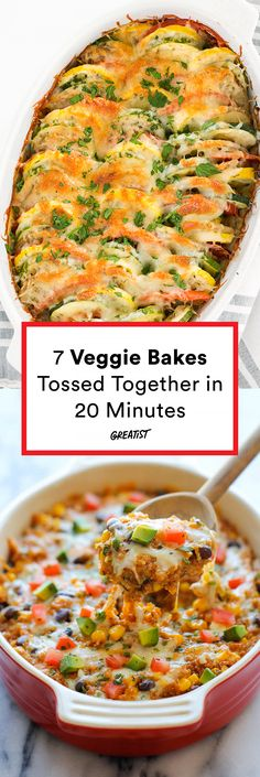 No need to slave over the stove to get all the veggies. #greatist https://greatist.com/eat/casserole-recipe-veggie-bakes