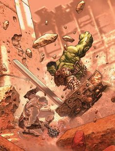 Planet Hulk art by Jose Ladron