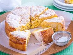 This fluffy teacake is beautifully moist from the homemade passionfruit curd swirled through. Enjoy a big slice with a cuppa for morning or afternoon tea. Tea Cakes, Cupcake Cakes, Cupcakes, Baking Recipes, Dessert Recipes, Desserts, Baking Ideas, Lunch Recipes, Passionfruit Recipes