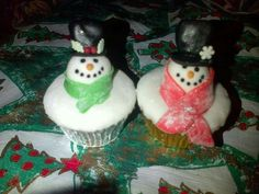 Melting Snowmen Cupcakes - Made By Jade Sheldon