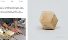 DodeCal is an innovative polyhedra calendar system, designed with mathematical precision and finished in high quality European sycamore. Manufactured from sustainable materials, our production process supports British industry, mixing digital technology and traditional craftsmanship. A tactile, three dimensional object that combines functionality and contemporary design, DodeCal makes a welcome addition to any home or workplace #websitetemplates #template #pcmsiteinspire #siteinspire…