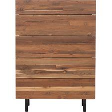Teak 5 Drawer Chest