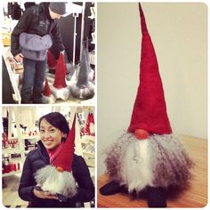 David and I bought our very own tomte to give our Stockholm home a little Christmas flair.  These tomtar (pl. of tomte) are handmade, and so each tomte is unique.  It took us a while for to select ...