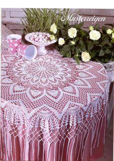 "Photo from album ""Sabrina - Filet au crochet 01 on Yandex. Filet Crochet, Crochet Motif, Crochet Designs, Crochet Doilies, Crochet Lace, Crochet Patterns, Crochet Round, Crochet Books, Thread Crochet"