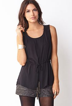 Touch-Of-Glam Beaded Top | FOREVER 21 - 2031557839