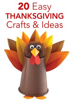 These simple #Thanksgiving crafts are fun for the whole family! Try them while dinner is cooking or weeks before the big day to get the kids excited for the holiday.