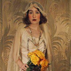 20s Miss Havisham Bridal Veil by BoudoirQueen on Etsy, $275.00