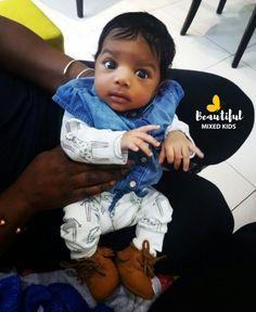 Amira - 1 Month • Nigerian, Jamaican, Ghanaian & Mauritian FOLLOW @BEAUTIFULMIXEDKIDS http://instagram.com/beautifulmixedkids