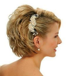 #shorthair, 50 Dazzling & Fabulous Bridal Hairstyles for Your Wedding | Pouted Online Magazine – Latest Design Trends, Creative Decorating Ideas, Stylish Interior Designs & Gift Ideas