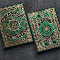 High Victorian Playing Cards by and design by These playing card tuck cases are nearly more foil stamping than they… Bycicle Vintage, Bycicle Art Playing Cards Art, Playing Card Design, Bicycle Cards, Foil Stamping, Deck Of Cards, Graphic Design Illustration, Game Design, Book Art, Medieval