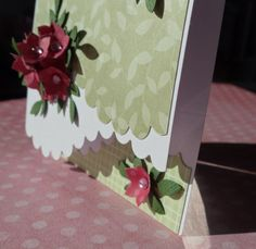card with flower-tower