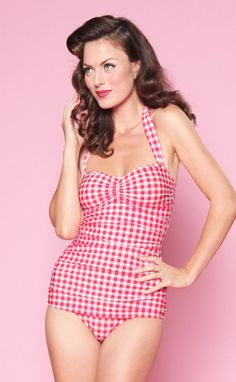 Red Gingham Swimsuit by Esther Williams - For Luna