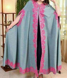 Abaya Fashion, Boho Fashion, Fashion Dresses, Womens Fashion, Fashion Design, Pakistan Fashion, India Fashion, African Fashion, Pakistani Cape Dresses