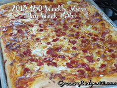 2013 $50 Weekly Menu Plan Week #36: It's Finally a Meat restocking week! Since most of our previous weeks budget barely touched $30 this week we were able to purchase the following and still remain with our $250 monthly budget... (click on photo for menu plan)
