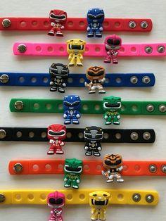 Power Ranger Party Favors Charm Bracelets Power Ranger | Etsy 4th Birthday Parties, Birthday Party Favors, Boy Birthday, Power Ranger Party, Power Ranger Birthday, Birthday Supplies, Party Supplies, Fake Nails For Kids, Superhero Party Favors