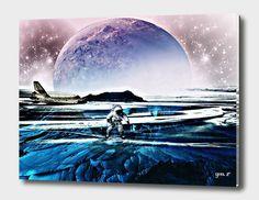 Impression sur toile 'Translucent Planet by GEN Z' par Gen-Z Canvas Prints, Art Prints, Les Oeuvres, Planets, Art Gallery, Waves, Studio, World, Outdoor