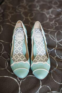 BHLDN aqua wedding shoes // photo by Readyluck