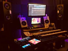 EVE SC307s placed vertically in the studio of Evo Ryder, sound designer and co-founder of Orion Sounds LLC New York