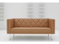 Squared tufted sofa