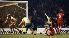 Oct. 19th 1993 Jeremy Goss scores for Norwich in the second leg UEFA cup game against Bayern Munich. It ended 1-1, to enable Norwich to go through.