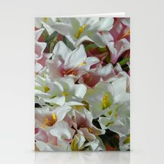 Pastel lilies Stationery Cards
