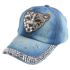 new fashion rhinestone floral denim women baseball caps wholesale woman hip  hop snapback hats girl brand b0fb516b8c16
