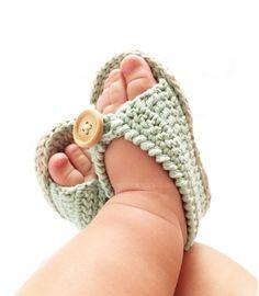Sandalias de Crochet de bebé MINT - Patrón y tutorial DIY