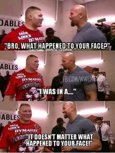 The Rock doesn't give a fuck about Brock..