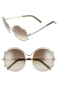a39abc8debe Women s Chloe  Isidora  Round Sunglasses - Rose Gold  Peach from Nordstrom.