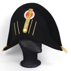bicorne | Officier empire, bicorne galonage or ou argent, sur commande.