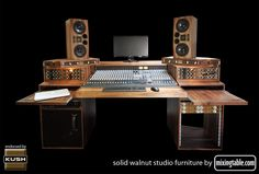 19 inch walnut racks for audio gear by mixingtable.com