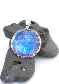 Cobalt Blue, Teal & Purple Color Shifting Pendant