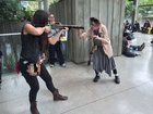 """[self] cosplaying as Daryl Dixon from """"The Walking Dead""""."""