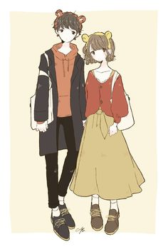 Anime Love Couple, Cute Anime Couples, Anime Outfits, Disney Outfits, Anime Flower, Cute Art Styles, Anime Boyfriend, Character Design References