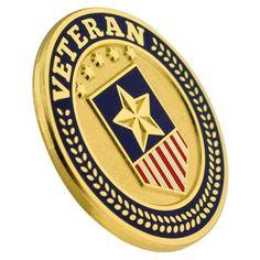 65eedb331f7 Veteran Shield Circle Pin. PinMart. Veterans ...