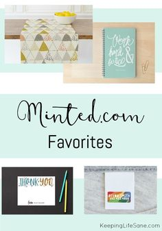 Have you ever shopped at Minted.  I love it and wanted to tell you about my favorite things at http://Minted.com.  There is also a great #giveaway!  #ad