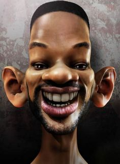 caricatures of famous Actors - Will Smith