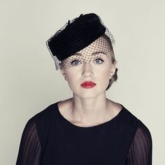 1950s pillbox hat with mesh veil 1950s Outfits 0ab9234c552