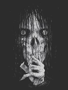 Creepy Drawings, Dark Art Drawings, Creepy Images, Creepy Pictures, Depression Art, Horror Drawing, Satanic Art, Dark Artwork, Horror Artwork