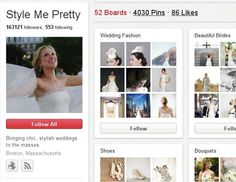 7 Tips for Planning a Wedding on Pinterest--  just in case we ever want to actually select specific items.