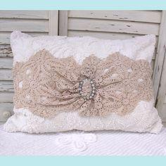 Patti's Artful Designs | Chenille Lace Pillow